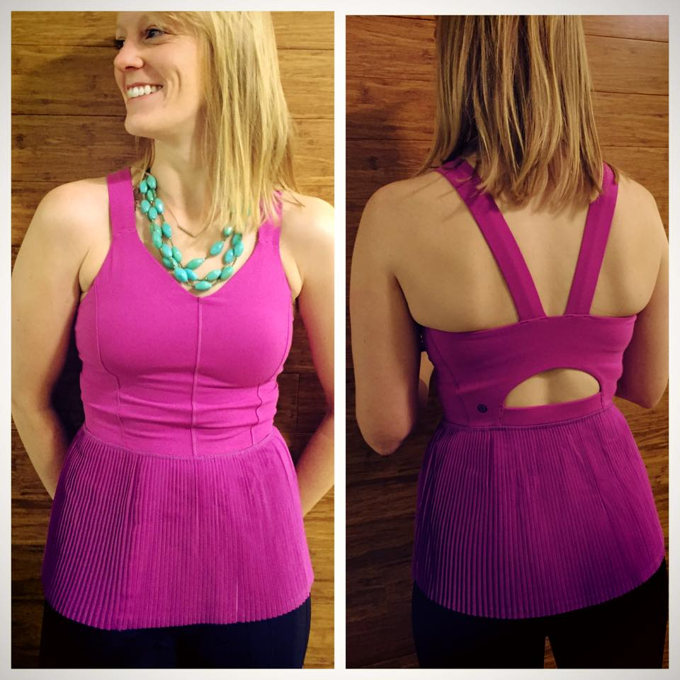 lululemon city tank ultra violet