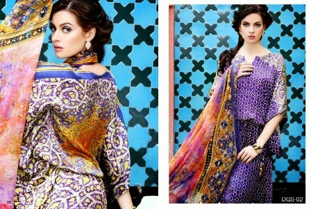 Latest Gul Ahmed Prints Silk Dresses