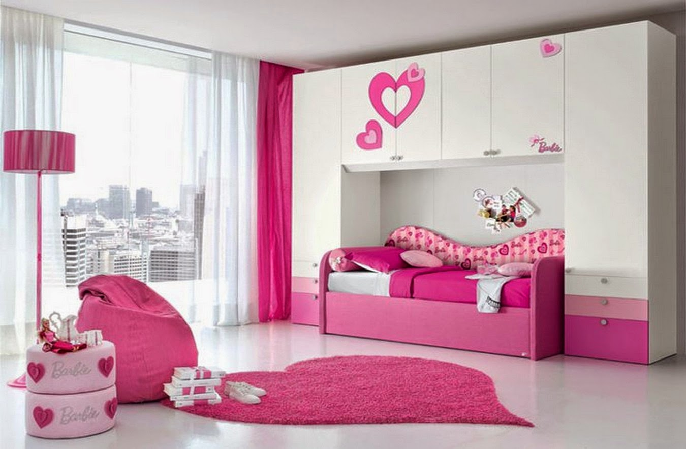 Pink and white bedroom design ideas dashingamrit - Modern girls bedroom design ...