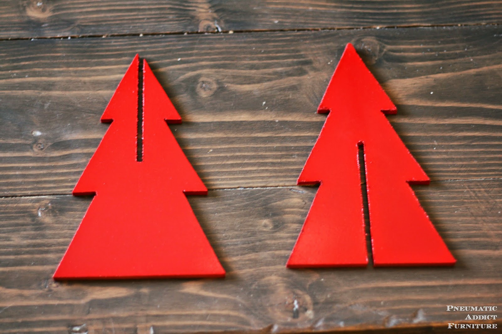 Pneumatic addict 3 d plywood trees for Plywood christmas tree