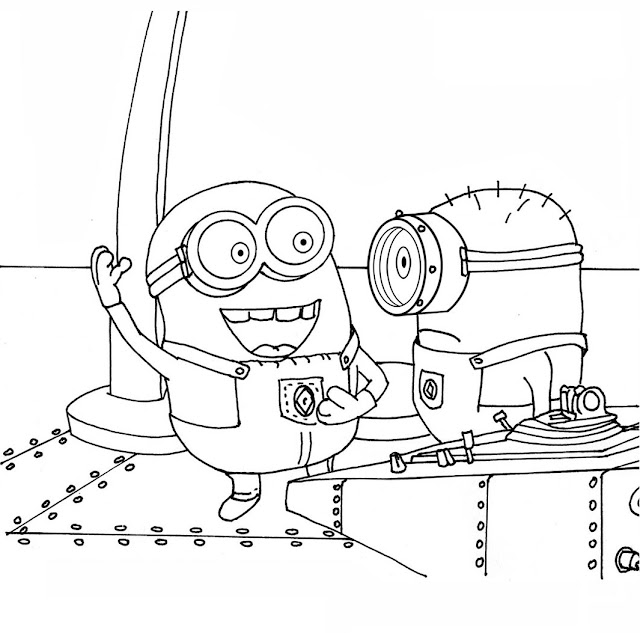 Despicable me and minions free printable coloring pages for Fiesta coloring pages