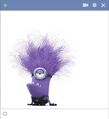 Evil minion emoticon for Facebook