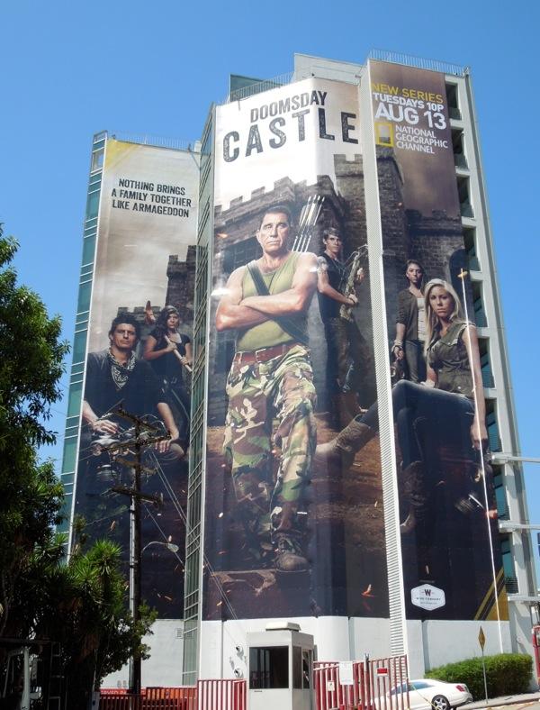 Giant Doomsday Castle series premiere billboard