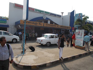 Ernakulam Junction train terminus in Kochi.