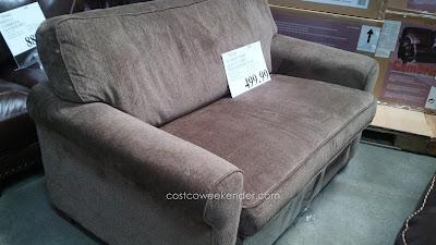 Synergy Home Albany Twin Sleeper Chair – Chenille fabric, memory foam mattress