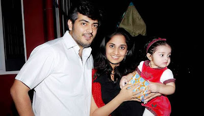 actor ajith salini and baby anoushka