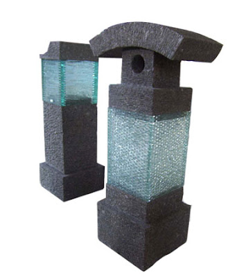 Stone Lamp Glass Ornament
