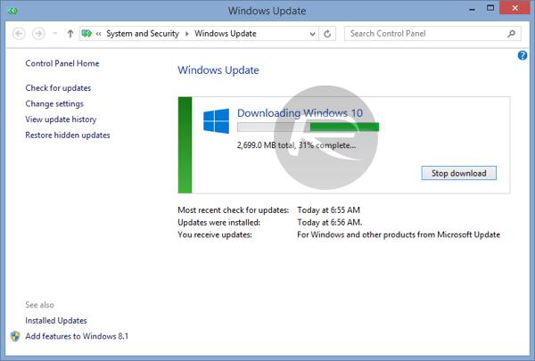 Windows 10 atualizaçao