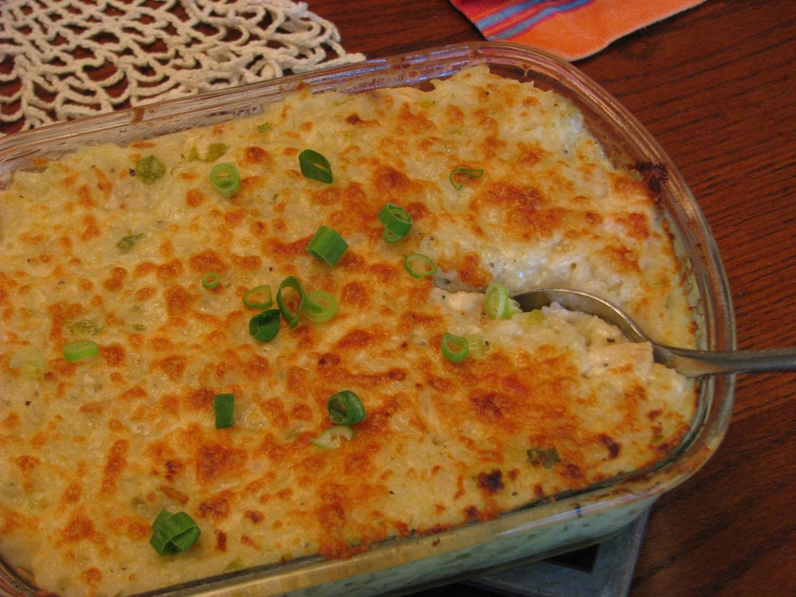 TheFultonGirls: Salsa Verde Chicken and Rice Casserole
