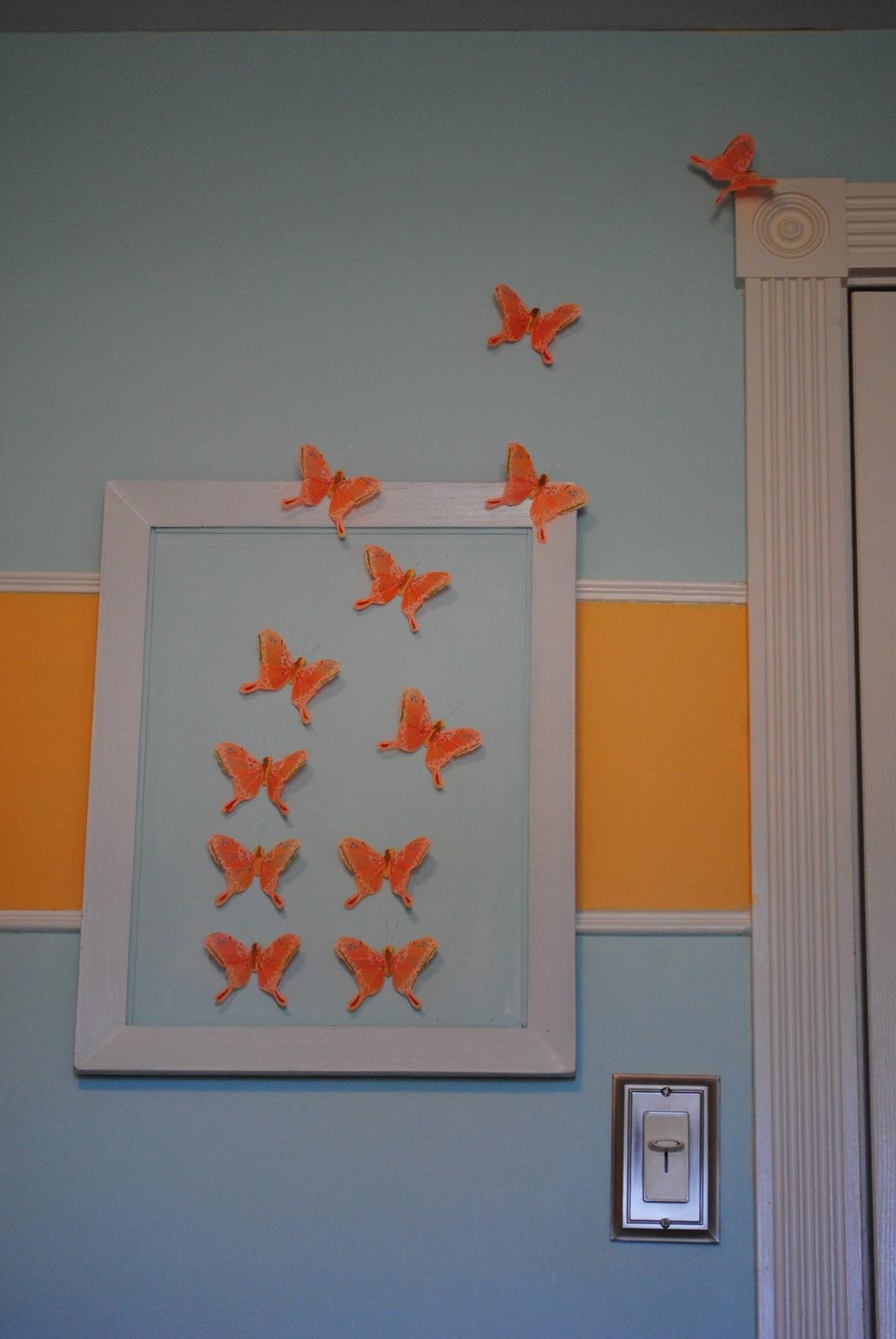 Nursery Wall Decor Butterflies : Diy butterfly wall art nursery decor making lemonade