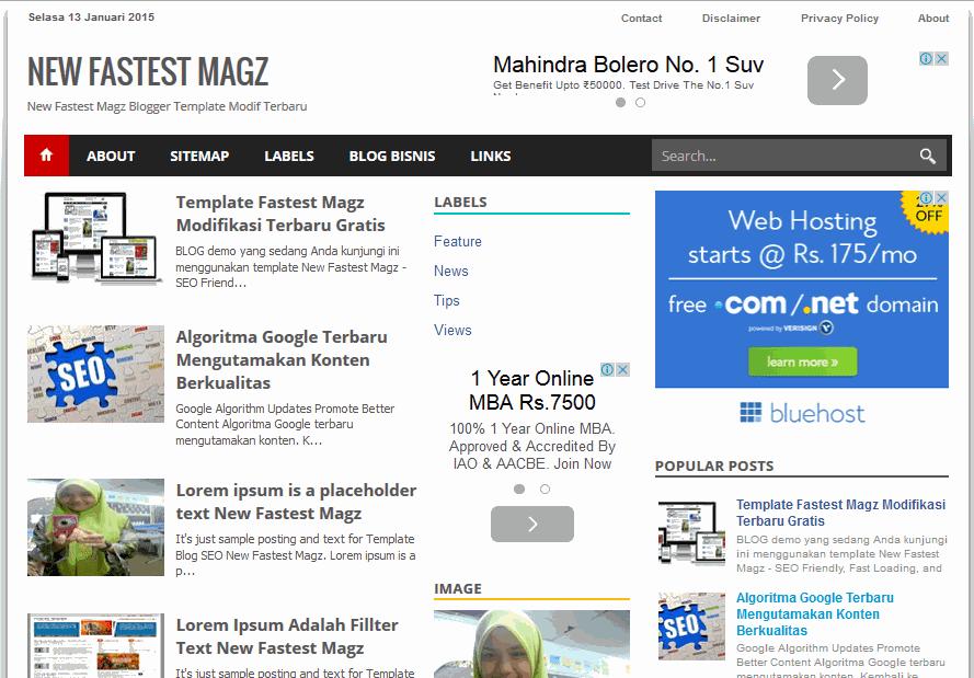 Fastest Magz Free Blogger Templates