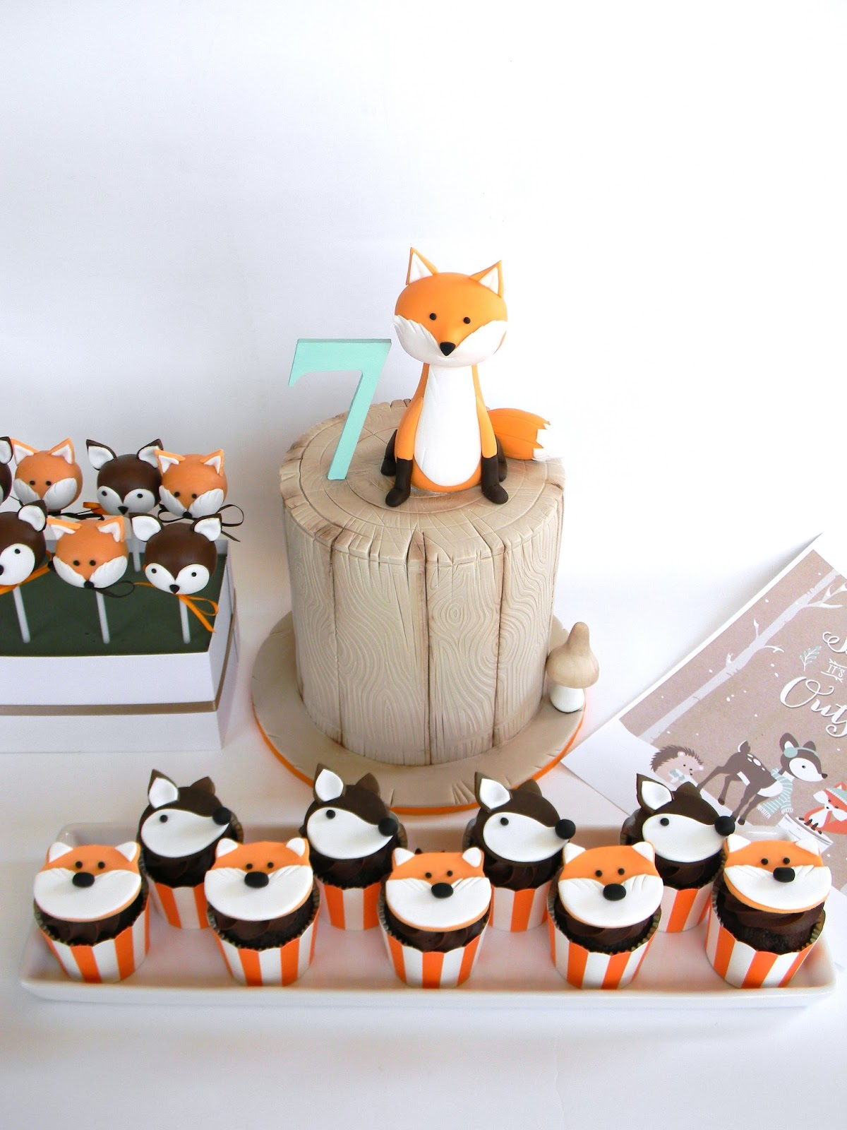 Woodland Themed Cake Toppers