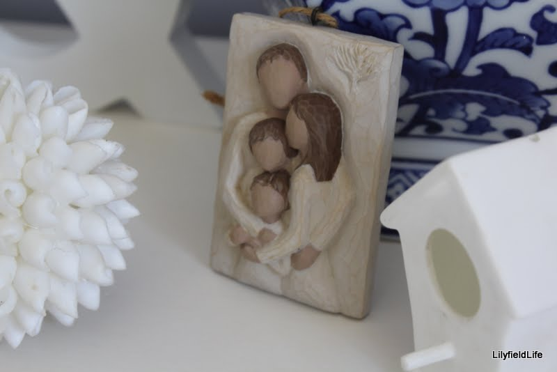 little ceramic family ornament