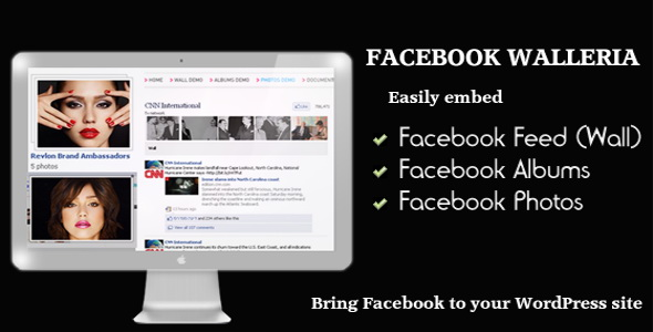 CodeCanyon - Facebook Walleria - WordPress Plugin