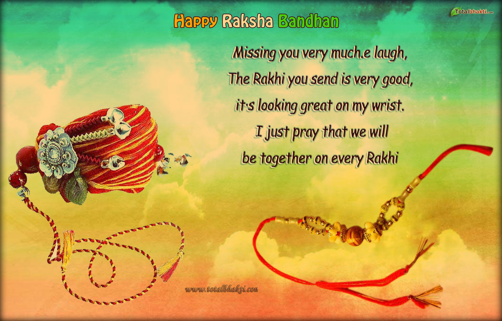 Khushi For Life Free Happy Raksha Bandhan Wishes Wallpaper Download
