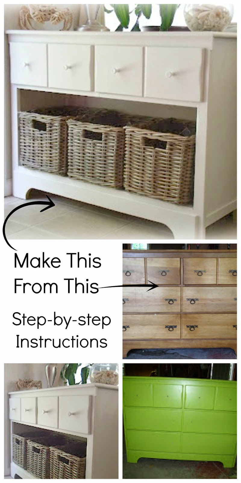 Dresser To Entry Shoe Storage Cabinet