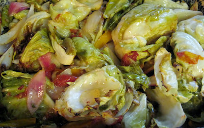 Cuban style roasted cabbage