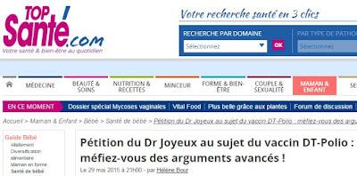 La pétition du professeur Joyeux contre la vaccination forcée fait grincer des dents les médias et la ministre de la santé Capture5