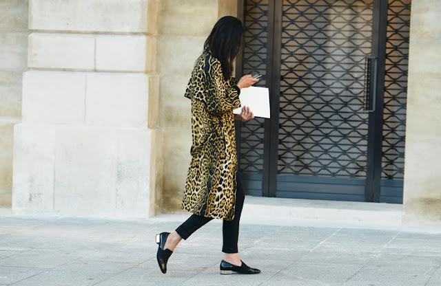 Leopard coat streetstyle
