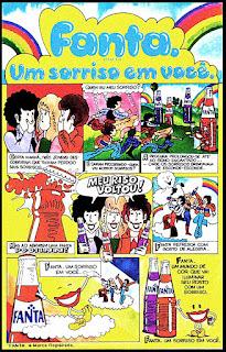 propaganda Fanta laranja e uva - 1976.  década de 70. os anos 70; propaganda na década de 70; Brazil in the 70s, história anos 70; Oswaldo Hernandez;