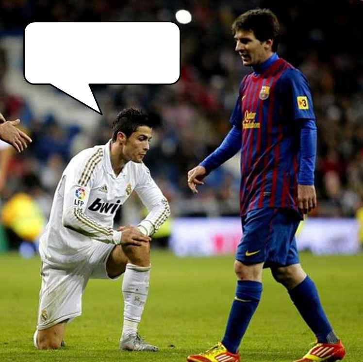 What S Ronaldo Saying To Messi     Caption Compeion