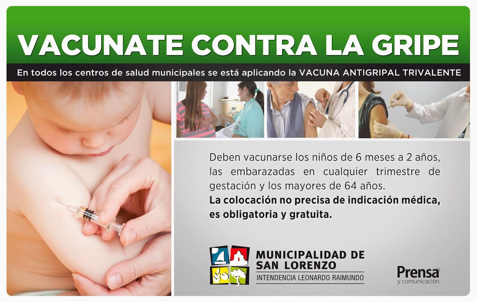 Vacuna antigripal - Aviso gráfico vigente