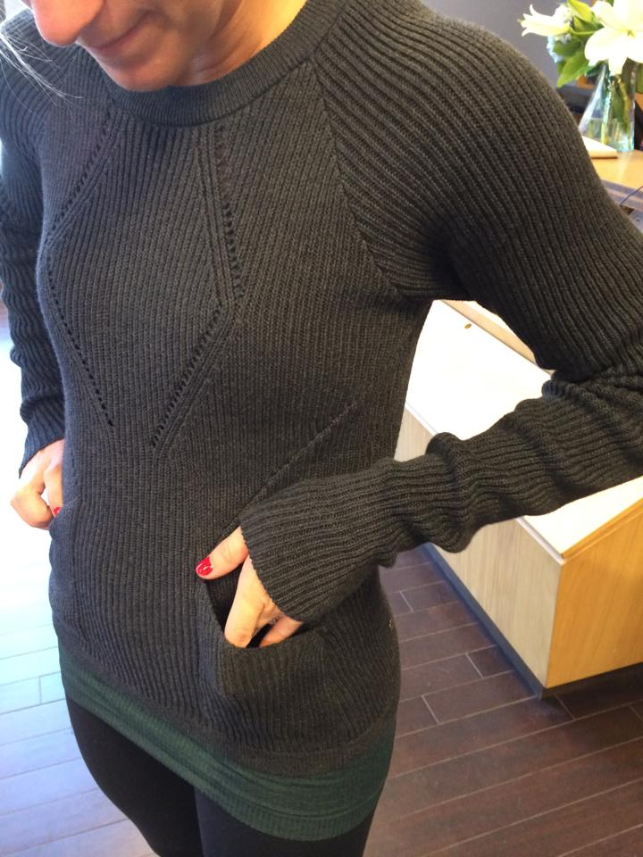lululemon black sweater the better