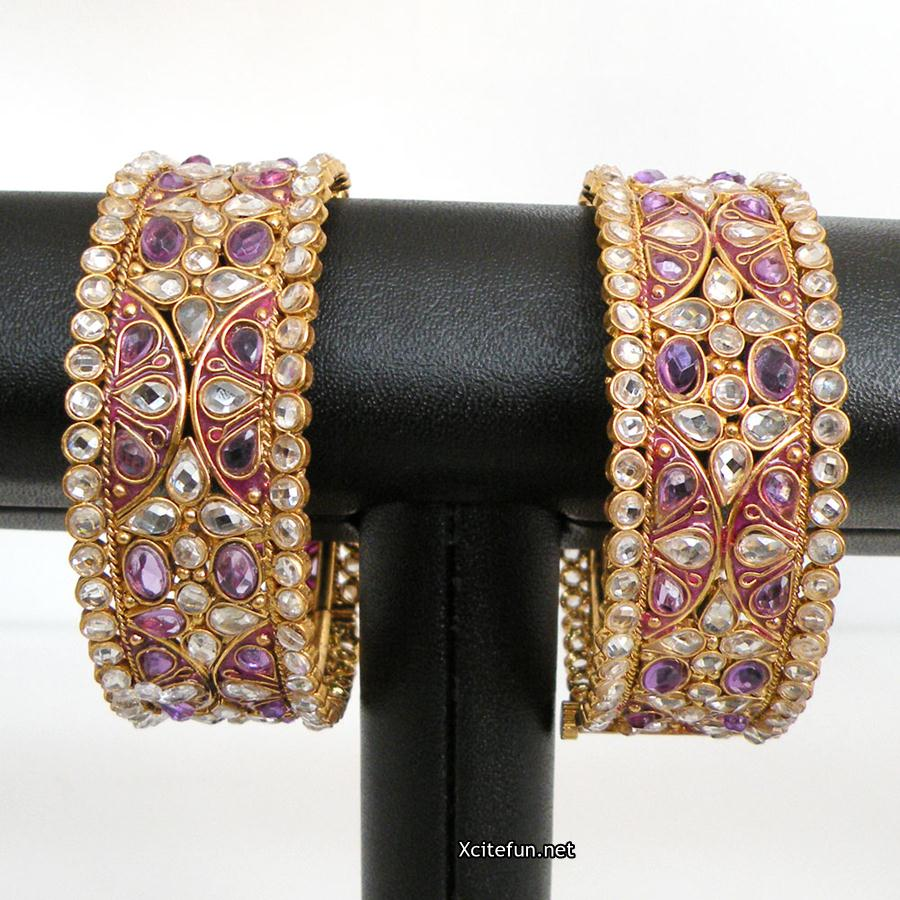 Gold Multi Shade Bangles Collection For Wedding !
