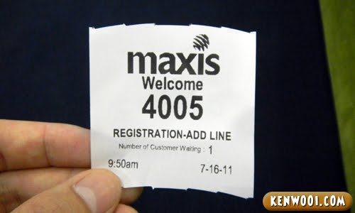 maxis ticket