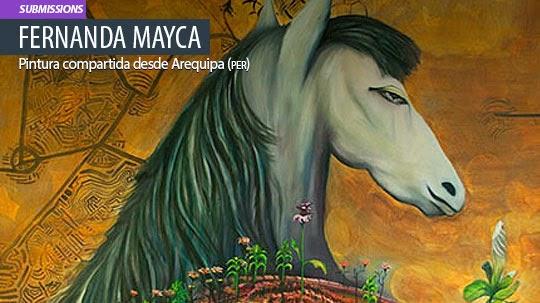 Pintura. El jardín de FERNANDA MAYCA