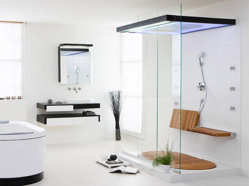 Diseno De Baño Grande: para la ducha como para el resto del baño da una mayor sensación de