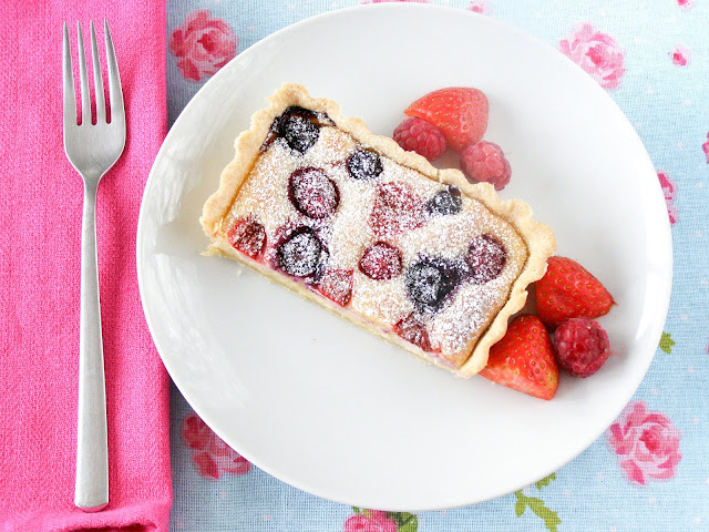 Vegan Summer Berry and Almond Cheesecake Tart