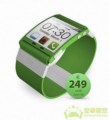 Android Access Microblogging, Colorful Watch Green Microblogging
