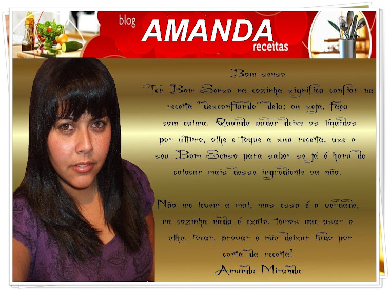 Na cozinha com Amanda