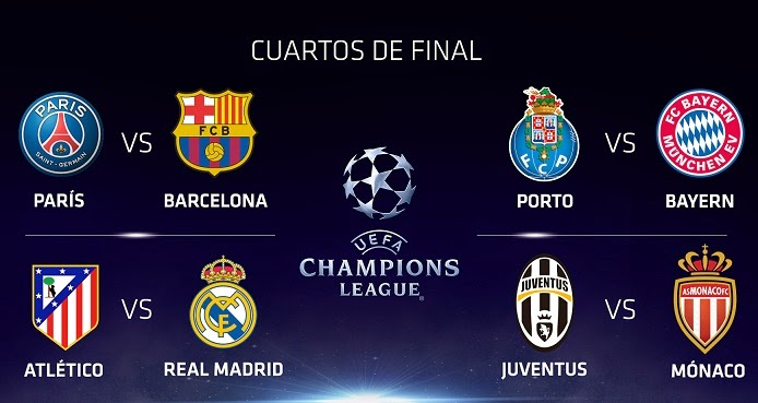 Fecha uefa champions league 2014 cuartos de final wroc for Cuartos de final champions