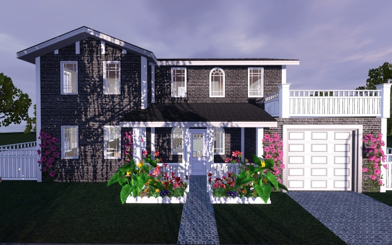 My sims 3 blog 3 bedroom 2 bath traditional home by for Sims 3 6 bedroom house