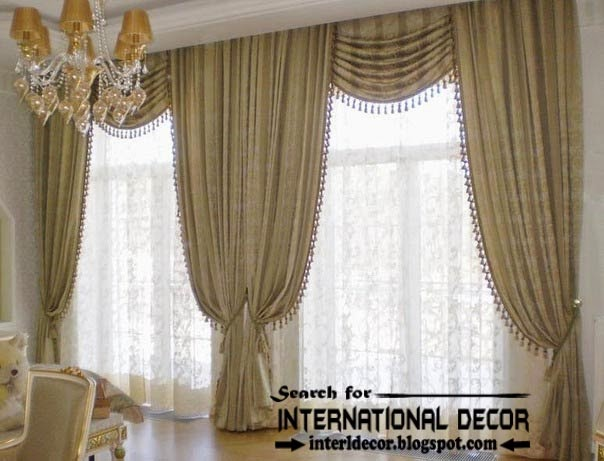 Top trends living room curtain styles colors and materials - Latest interior curtain design ...