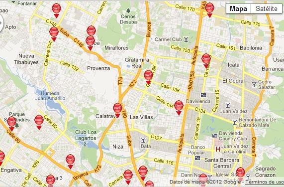 Mapa bogota 170 for Barrio ciudad jardin norte bogota