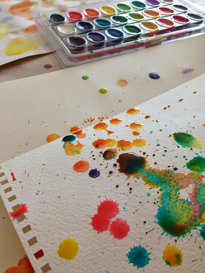 messy watercolor - Creating Watercolor for our Spring Catalog