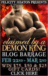 http://www.felicityheaton.co.uk/claimed-by-a-demon-king-paranormal-romance-novel.php