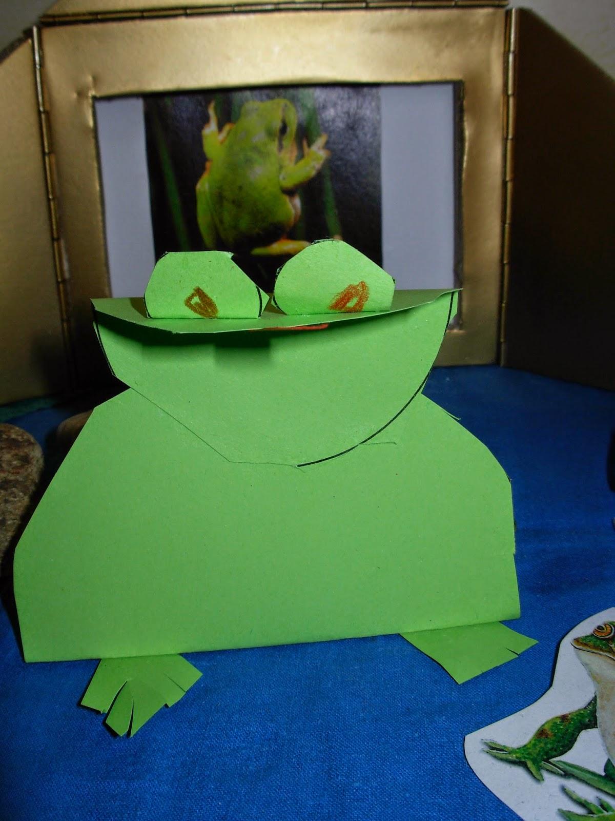 gebastelter Frosch von einem 6 jährigen Kind