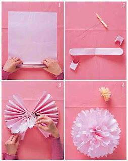 Pelür Kağıdından Çiçek Yapımı