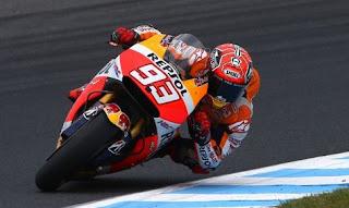 MotoGP Australia 2015: Marquez Tercepat Latihan Bebas FP2, Rossi Kesembilan