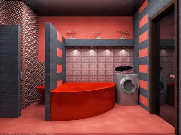 contoh keramik kamar mandi tampak minimalis