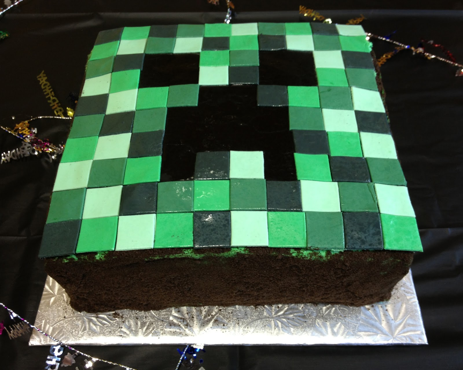 Cake Ideas Minecraft : Minecraft Creeper Cake