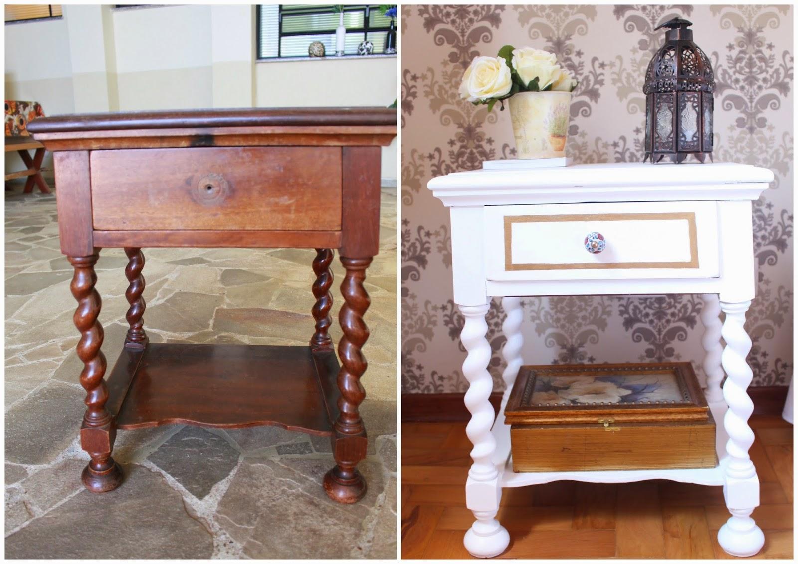 Como restaurar uma mesa de cabeceira antiga ~ Decoração LowCost #955A36 1600x1131