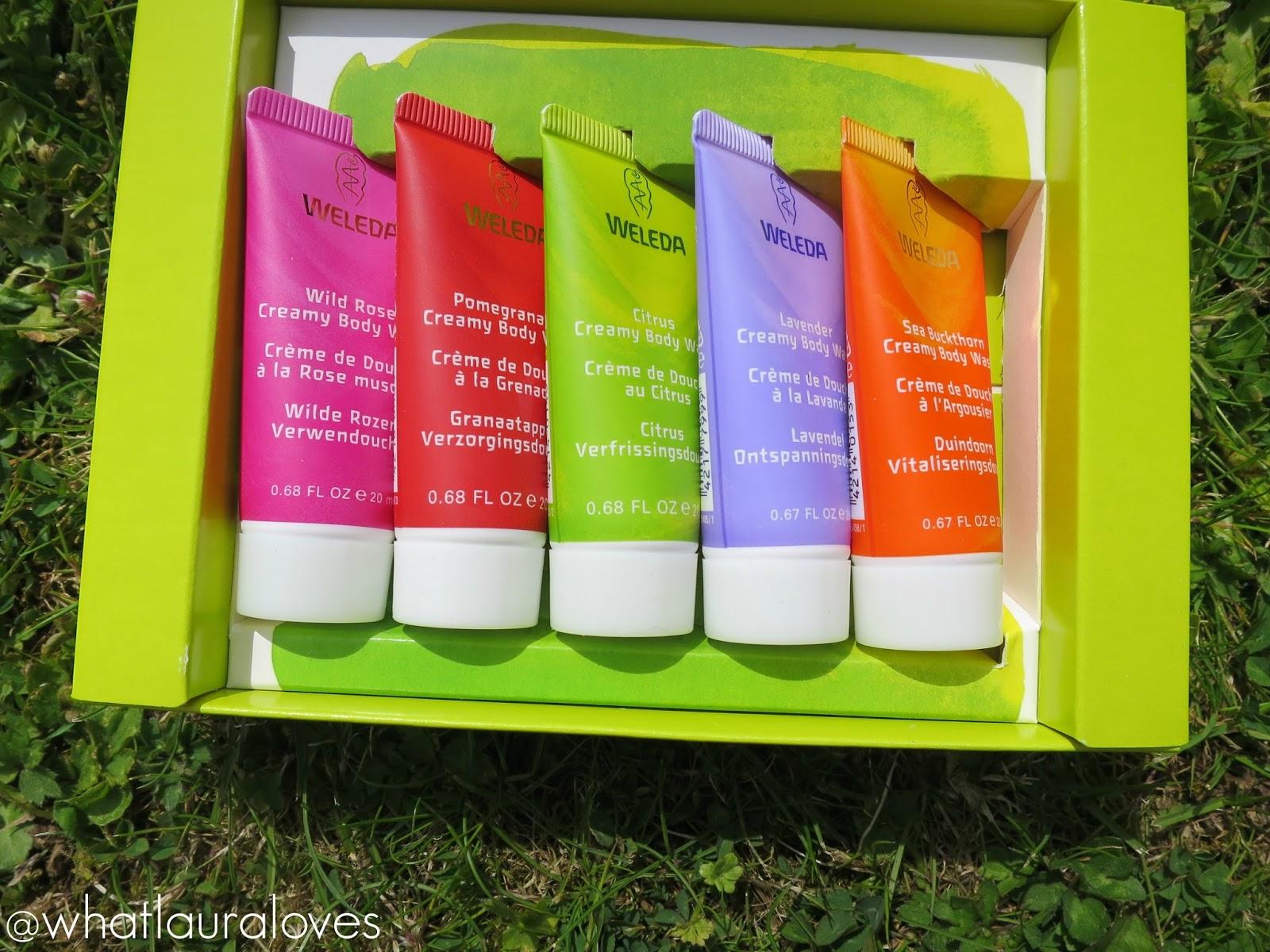 Weleda Creamy Body Washes Travel Minis