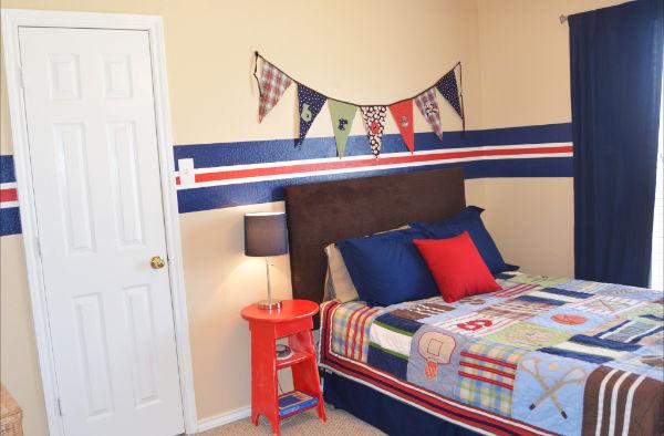 Sports themed boy 39 s room design dazzle - Boys room ideas sports theme ...