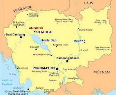 Mapa de Camboya Mapa Región