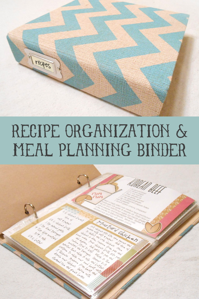Recipe Organization and Meal Planning Binder at my3monsters.com
